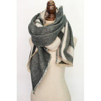 Chic Fringed Edge Simple Geometric Printed Pashmina For Women