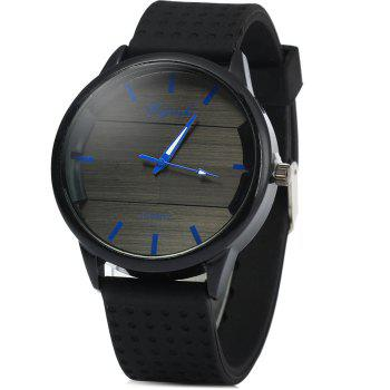 Weijieshi 929 Men Quartz Watch with Rubber Band Round Dial