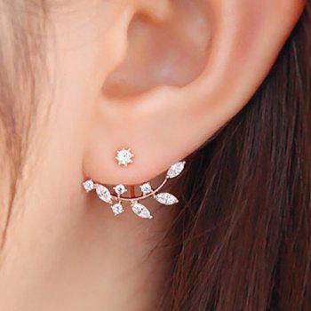 Dresslily Rhinestone Leaf Branch Earrings