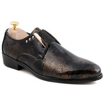 Fashionable Rivets and Elastic Design Formal Shoes For Men