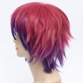 No Game No Life Anti Alice Hair Nobby Inclined Bang Ombre Shaggy Short Straight Cosplay Wig - OMBRE 2