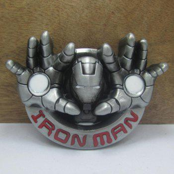 Stylish Iron Man Head and Hand Shape Embellished Men's Belt Buckle - COLORMIX COLORMIX