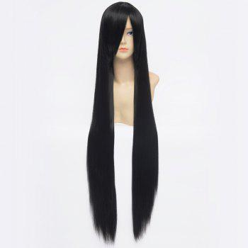 Glossy Straight Heat Resistant Fiber 100CM Extra Long Capless Charming Side Bang Anime Cosplay Wig