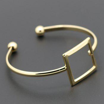 Trendy Hollow Out Square Cuff Bracelet For Women