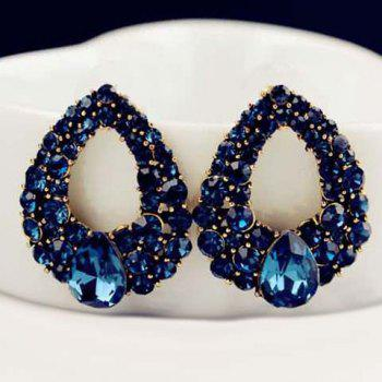 Pair of Faux Sapphire Waterdrop Earrings