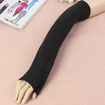 Pair of Chic Solid Color Women's Knitted Fingerless Gloves