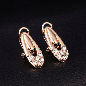 A Suit of Noble Waterdrop Rhinestone Necklace Bracelet Earrings and Ring For Women - GOLDEN