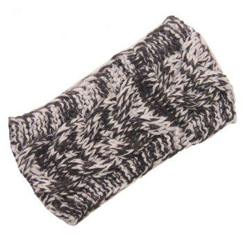 Chic Mixed Color Hemp Flowers Women's Knitted Headband