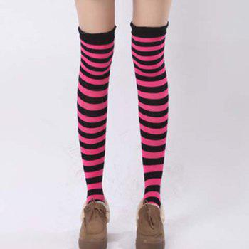 Pair of Chic Navy Style Stripe Pattern Women's Stockings