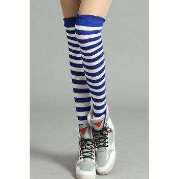 Pair of Chic Navy Style Stripe Pattern Women's Stockings -  COLOR ASSORTED