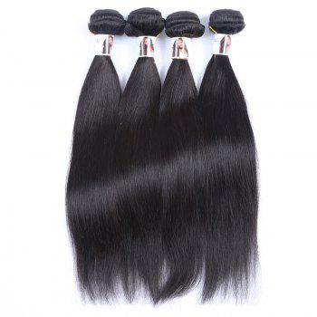 Natural Black Grade 5A Peruvian Virgin Hair Straight Women's Human Hair Weft