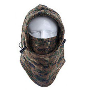 Stylish Drawstring Various Pattern Outdoor Men's Fleeces Protective Headgear