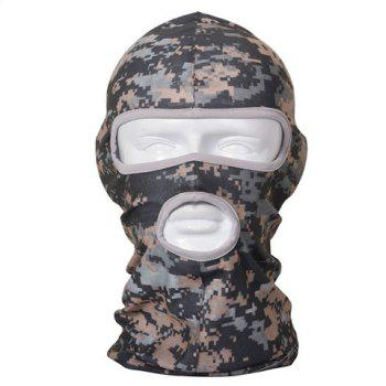 Stylish Camouflage Pattern Outdoor Tactical Men's Protective Headgear - GRAY GRAY