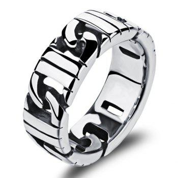 Rock Style Stainless Steel Ring - SILVER SILVER