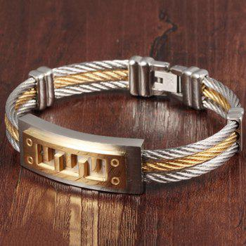 Steel Cable Wire Layered Bracelet - GOLDEN GOLDEN