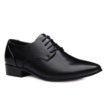 British Style Pointed Toe and Black Design Formal Shoes For Men