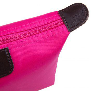 Candy Color Waterproof Zippered Cosmetic Makeup Bag -  ROSE
