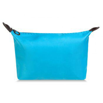 Cosmetic Candy Color Waterproof Zippered Makeup Bag -  AZURE