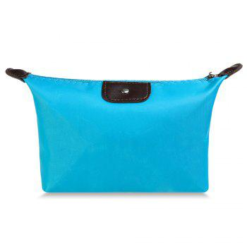 Cosmetic Candy Color Waterproof Zippered Makeup Bag - AZURE AZURE