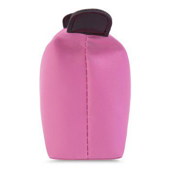 Candy Color Waterproof Zippered Cosmetic Makeup Bag -  PINK