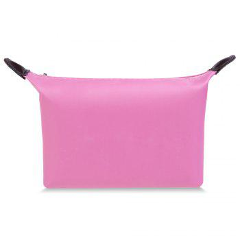 Cosmetic Candy Color Waterproof Zippered Makeup Bag -  PINK