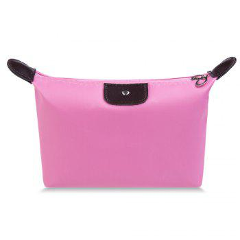 Cosmetic Candy Color Waterproof Zippered Makeup Bag - PINK PINK