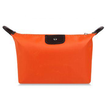 Candy Color Waterproof Zippered Cosmetic Makeup Bag - ORANGE ORANGE