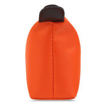 Candy Color Waterproof Zippered Cosmetic Makeup Bag -  ORANGE