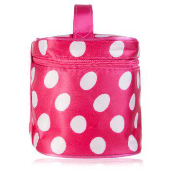 Guapabien Fashion Polka Dot Print Storage Wash Receive Bag - RED/WHITE