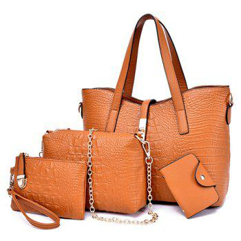 Stylish Crocodile Print and Metal Hasp Design Shoulder Bag For Women