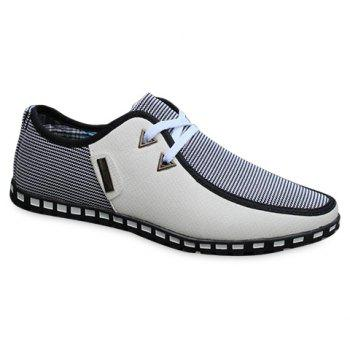 Stylish Color Block and Triangle Design Casual Shoes For Men