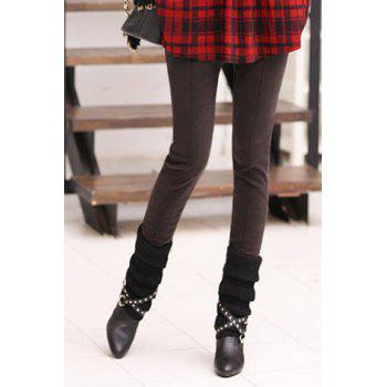 Casual Splicing Thicken Flocking Plus Size Women's Pants