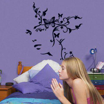 Home Decoration A Set of PVC Sweet Butterfly Pattern Decorative Wall Stickers - COLORMIX