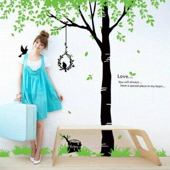 DIY Nature Big Tree Home Decorative Wall Stickers - AS THE PICTURE