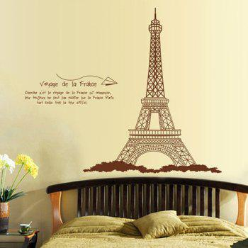 Creative DIY Eiffel Tower Pattern Home Decoration Decorative Wall Stickers