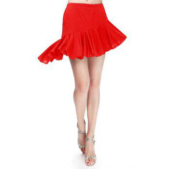 Women's Trendy Solid Color Asymmetrical Flounce Dancewear