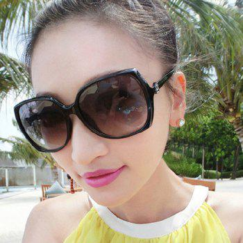 Chic Flower Shape Embellished Big Frame Women's Sunglasses
