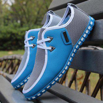 Stylish Color Block and Triangle Design Casual Shoes For Men - LIGHT BLUE LIGHT BLUE