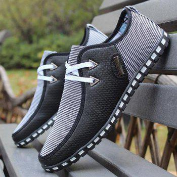Stylish Color Block and Triangle Design Casual Shoes For Men - 39 39