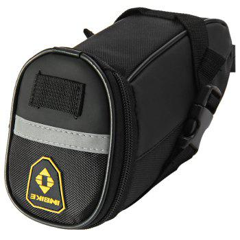 INBIKE Bicycle Triangle Saddle Bag with Reflective Stripe Thickened Plug-in Buckle for Outdoor Cycling