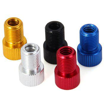 5pcs Aluminum Alloy Bike Tyre Valve Adapter ( French Type ) with Seal Ring for Bicycle