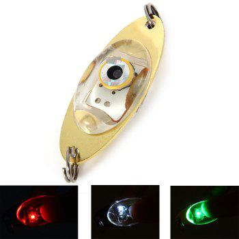 LED Lure Enhancer Flashing Light ( with Green Red White 3 Colors ) + 2 Stainless Steel Rings - GOLDEN GOLDEN