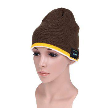 MZ012 Outdoor Breathable Music Bluetooth Knitted Hat with V3.0 + EDR Bluetooth for Hiking / Cycling - BROWN BROWN