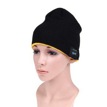 MZ012 Outdoor Breathable Music Bluetooth Knitted Hat with V3.0 + EDR Bluetooth for Hiking / Cycling - BLACK BLACK