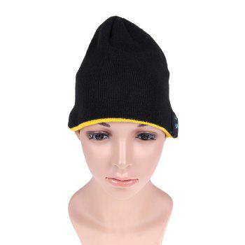 MZ012 Outdoor Breathable Music Bluetooth Knitted Hat with V3.0 + EDR Bluetooth for Hiking / Cycling -  BLACK