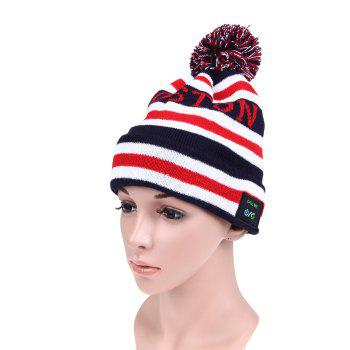 MZ018 Bluetooth V3.0 + EDR Music Knitted Hat for Winter Outdoor Cycling / Mountaineering - AS THE PICTURE AS THE PICTURE