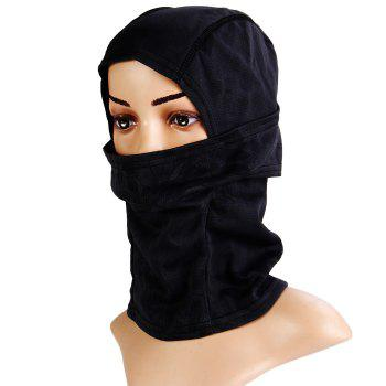 Multi-purpose Wrapped Head Cap Mask with Irregular Grid Pattern for Outdoor Camping and Cycling - BLACK BLACK