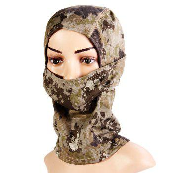 Multi-use Camouflage Pattern Wrapped Head Cap Mask for Outdoor Cycling and Hiking - LIGHT GRAY LIGHT GRAY