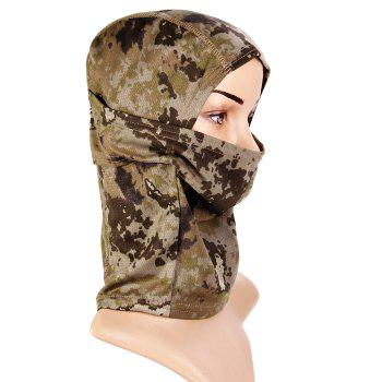 Multi-use Camouflage Pattern Wrapped Head Cap Mask for Outdoor Cycling and Hiking - LIGHT GRAY