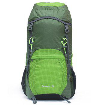 BOLANG Large 35L Lightweight Folding Backpack Double Shoulders Bag for Men / Women - GREEN